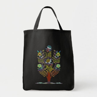 Earth Day Tapestry Style Flower Tree Tote Bags