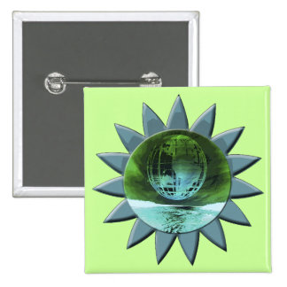 Earth Day Tee and Presents 15 Cm Square Badge