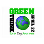 Earth Day Think Green Postcard