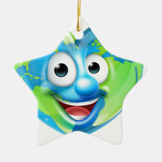Earth Day Thumbs Up Heart Mascot Cartoon Character Ceramic Star Decoration