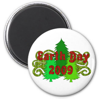 Earth Day Trees 2009 6 Cm Round Magnet