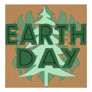 Earth Day Trees Poster