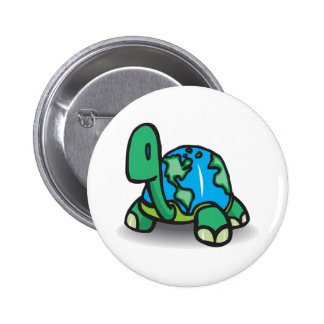 Earth Day Turtle 6 Cm Round Badge