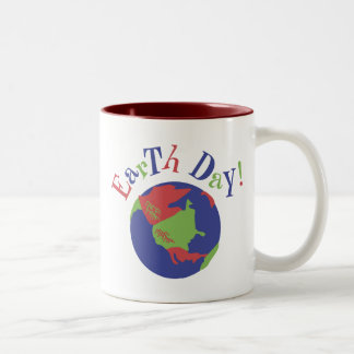 Earth Day Two-Tone Coffee Mug