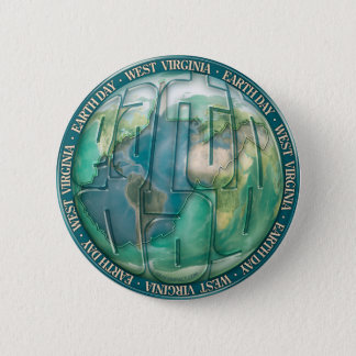 Earth Day West Virginia 6 Cm Round Badge