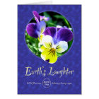 Earth Day Wildflower Laughter Card