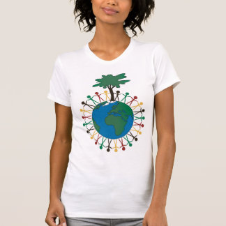 Earth Day with figures and tree - Africa T-Shirt