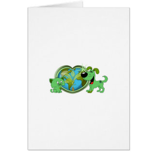 Earth Day with Leaf and Blade Greeting Card