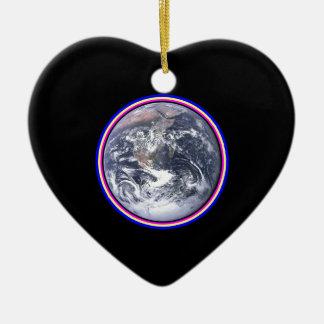 Earth Ceramic Heart Ornament