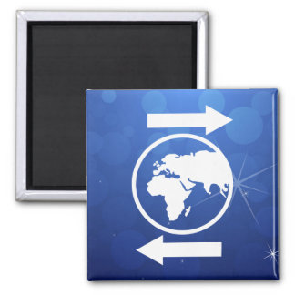 Earth Directions Icon Square Magnet