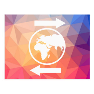 Earth Directions Icon Postcard
