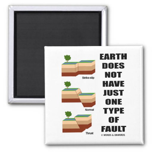 Earth Does Not Have Just One Type Of Fault Fridge Magnets