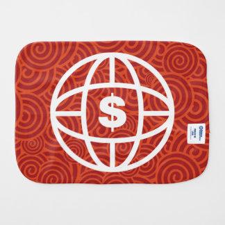 Earth Dollars Icon Burp Cloths