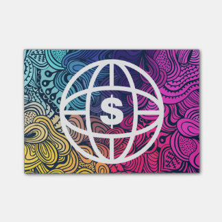 Earth Dollars Icon Sticky Note