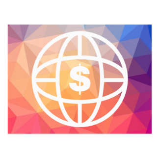 Earth Dollars Icon Postcard