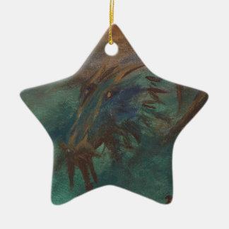 Earth Dragon Ceramic Star Decoration