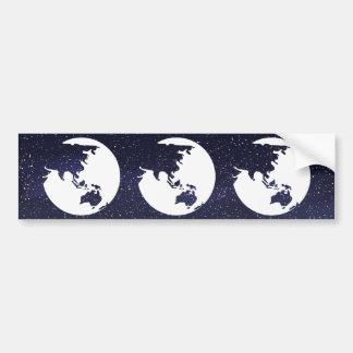 Earth Dusts Minimal Car Bumper Sticker