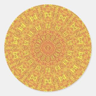 EARTH Element Contours Pattern Round Sticker