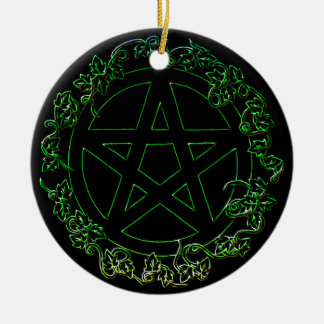 Earth Element Pagan Pentacle Ornament