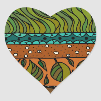 Earth Elements Heart Sticker