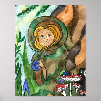 Earth Elf Art Poster