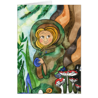 Earth Elf Greeting Card