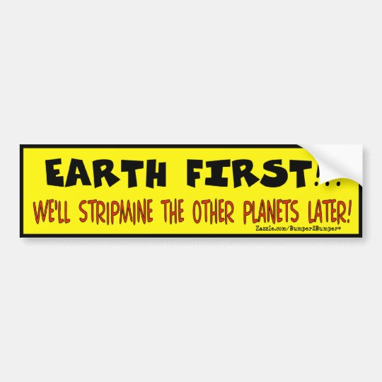 EARTH FIRST BUMPER STICKER