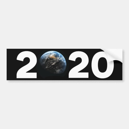 "Earth for President® Campaign, ""2020"" Bumper Bumper Sticker"