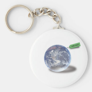 Earth for sale - Think-green keychain