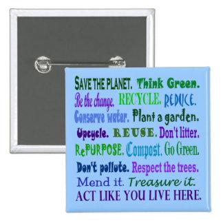 earth friendly pin