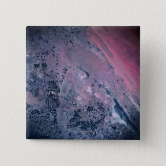 Earth from a Satellite 15 Cm Square Badge