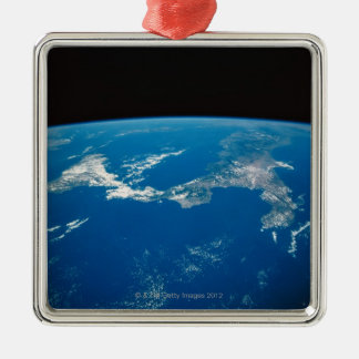 Earth from a Satellite 4 Christmas Ornament