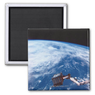Earth from a Space Shuttle 2 Square Magnet
