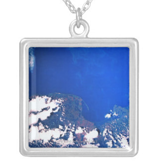 Earth from a Space Shuttle Silver Plated Necklace