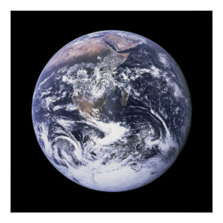 Earth from Apollo 17 Poster