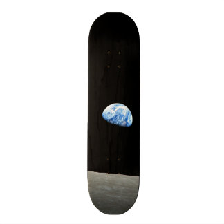 earth from moon space universe skate boards