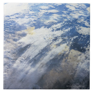 Earth from Outer Space 4 Large Square Tile