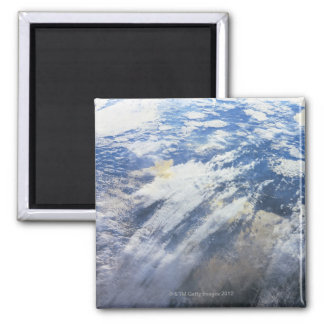 Earth from Outer Space 4 Square Magnet