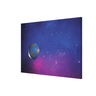 Earth from outer space gallery wrapped canvas