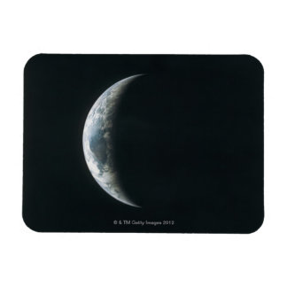 Earth from Outer Space Rectangular Photo Magnet