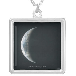 Earth from Outer Space Silver Plated Necklace