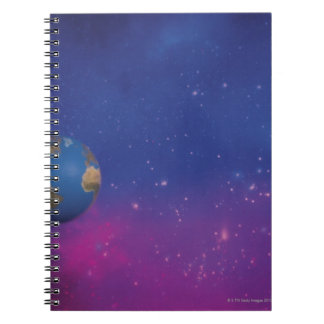 Earth from outer space spiral notebook