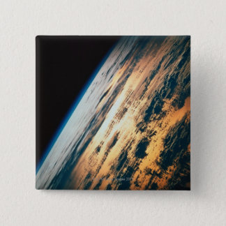 Earth from Satellite 6 15 Cm Square Badge