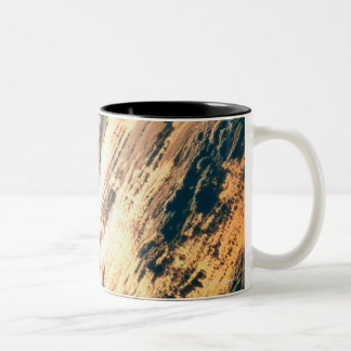 Earth from Satellite 6 Two-Tone Coffee Mug