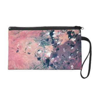 Earth from Satellite 7 Wristlet