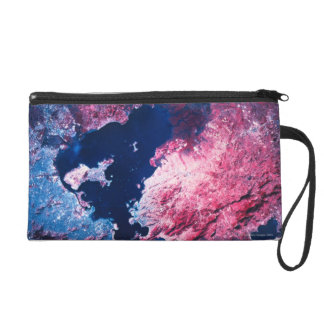 Earth from Satellite Wristlet