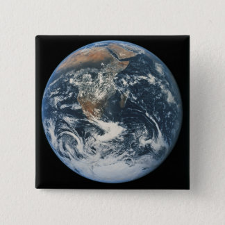 Earth from Space 10 15 Cm Square Badge