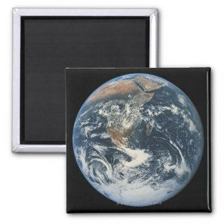 Earth from Space 10 Square Magnet