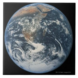 Earth from Space 10 Large Square Tile