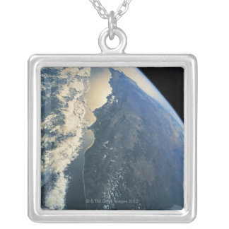 Earth from Space 11 Silver Plated Necklace